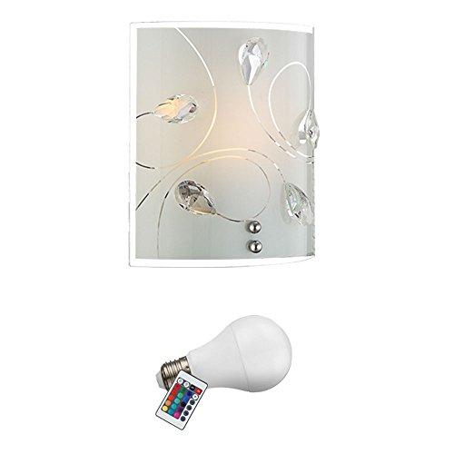 LED RGB 7 Watt Wand Leuchte Kristall Farbwechsler Fernbedienung Lampe dimmbar - Kristall-wand-lampe