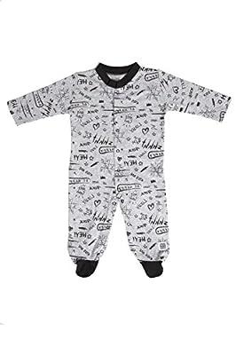 Pijama Largo 100% Algodón 6 meses - Colección Grunge (Color Gris) - Minutus