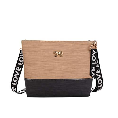Felicove Damen Schultertasche, Elegante Leder Schultertasche Messenger Schultertasche Crossbody Bag Handtaschen