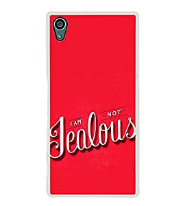 FUSON I Am Not Jealous Designer Back Case Cover for Sony Xperia Z5 :: Sony Xperia Z5 Dual 23MP