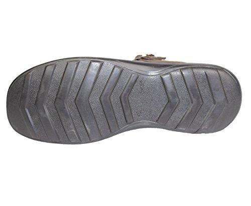 Herren Jungen Sandalen Nubuk Wildleder Leder Sommer Fashion Slipper Pantoletten Casual Schuhe Black Polish