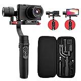 Gimbal Stabilisator für Handy und Gopro - All in 1 3Achsen Stabilizer für Digitalkamera/Actionkamera/Smartphone mit 600 ° Aufnahmemodus, für iPhone XS/Gopro Hero 7/Sony Compact Kamera RX100