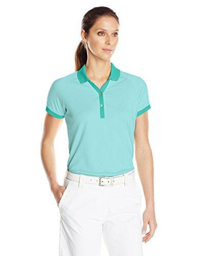 adidas Golf Damen Pique Polo, Damen, Nordic Green, Large - Performance-polyester Pique Polo