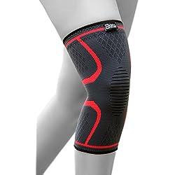 Bora Sportswear Elastische Kniebandage mit Kompressionseffekt für Mehr Stabilität im Alltag und Sport - Hochwertige Kniekompresse (XXL)