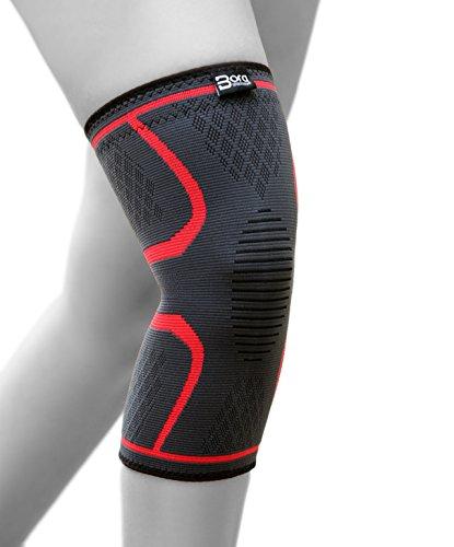 BoraSports Elastische Kniebandage mit Kompressionseffekt für mehr Stabilität im Alltag und Sport - hochwertige Kniekompresse (M)