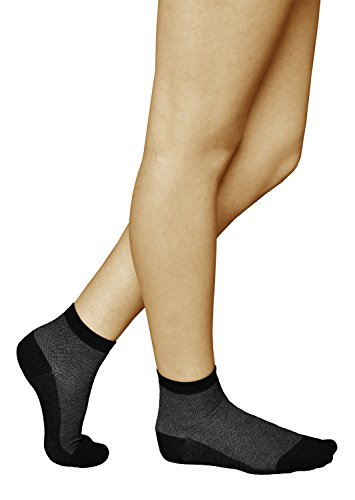vitsocks 3 Paar antibakterielle Damen Socken mit SILBER, Atmungsaktive Klimazone, Health, 39-42, grau
