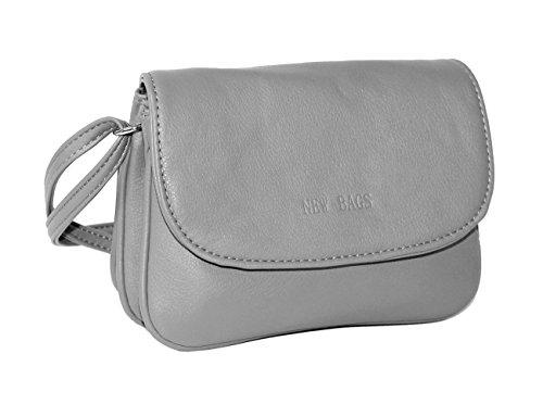 New Bags Kleine Damen Handtasche /Ausgehtasche Abendtasche Discotasche (hellgrau)