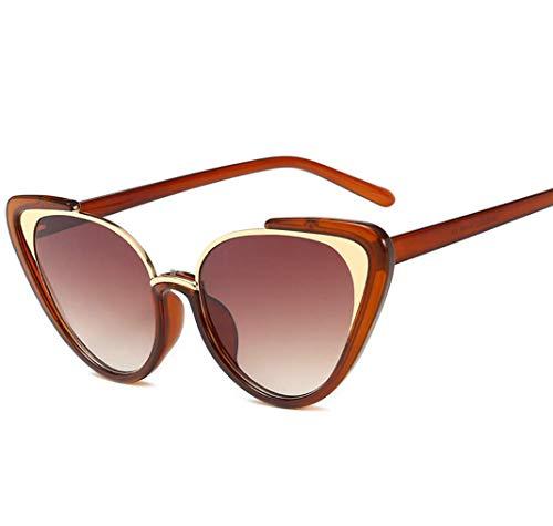 WYJW Dreieck Damen Sonnenbrille 1950 's Cool Cat Style Black Frames Vintage-Mode stilvolle Sonnenbrille 100% UV 400-6 Farben (1950 Brille)