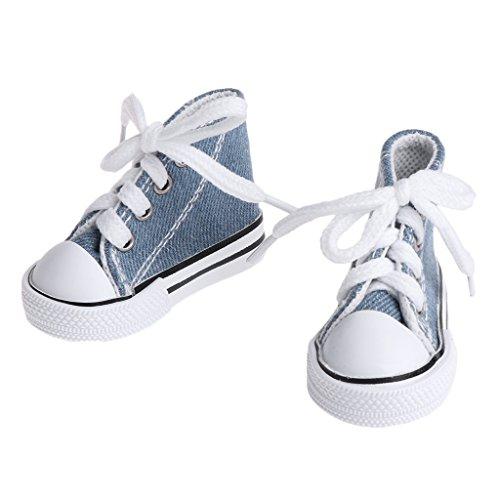 Cuigu Puppe Schuhe 1/4 Zubehör Leinwand Mode Sommer Spielzeug Mini Sneakers Denim Boots (Jeansblau) - Puppe Schuhe