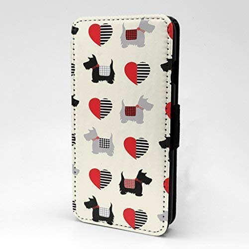 Scottish Terrier Herz Collage Flip Case Hülle für Apple IPHONE 6 - 6S - S478 -