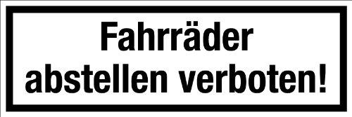 """Gewerbe-, und Gastronomieschild \""""Fahrräder abstellen verboten\"""" aus Aluminium - in verschiedenen Größen erhältlich"""