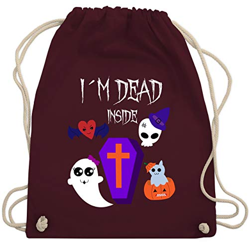Halloween - I'm dead inside - Unisize - Bordeauxrot - WM110 - Turnbeutel & Gym Bag