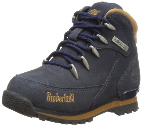 Timberland Euro Rock, Botas piel para niño, Azul (Navy/Brown), 30.5 EU (12 UK)