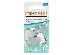 Impressart Aluminium Geschenkanhänger Metall Rohling Zum Prägen, 22X 13X 0,8Mm, 20Stück