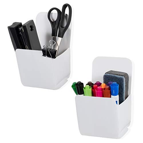 Wandregal Origami, zum Aufhängen, für Büro und Mehrzweck-Wandtasche, Weiß, 2 Stück -