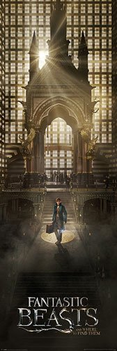 Fantastic Beasts - Phantastische Tierwesen - Teaser - Film Kino - XXL Tür Door Poster Druck - Größe 53x158 cm