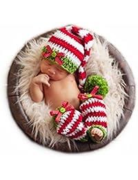 Tejer a mano Recién nacido Chico Niña Conjuntos Bebé Fotografía Accesorios Tejer Sombreros Leggings