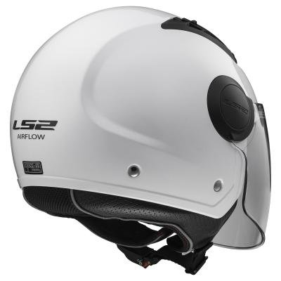 LS2 Casco Moto Of562 Airflow, Gloss White Long, Xl