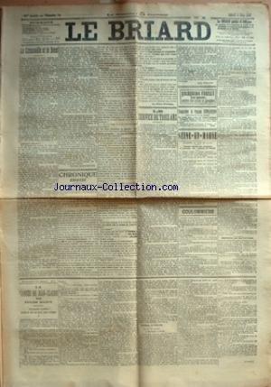 BRIARD (LE) [No 18] du 08/03/1913 - LA GRENOUILLE ET LE BOEUF PAR VICTOR MARGUERITTE - CHRONIQUE BRIARDE - LA REVANCHE DES MUETS PAR GEROME - LE SERVICE DE TROIS ANS PAR JEAN VERNANT - SEINE-ET-MARNE - CHEMINS DE FER DE L'EST - COULOMMIERS - CAISSE D'EPARGNE - TIR - CONSEIL MUNICIPAL - LA SOIREE DE DIMANCHE - SECOURS MUTUELS - GENDARMERIE - ARRESTATION MOUVEMENTEE - MESSIEURS LES CULTIVATEURS - VENTE D'UN CHEVAL DE REFORME - LA FIANCEE DE JEAN-CLAUDE - L'ECOLE DE LA HAI