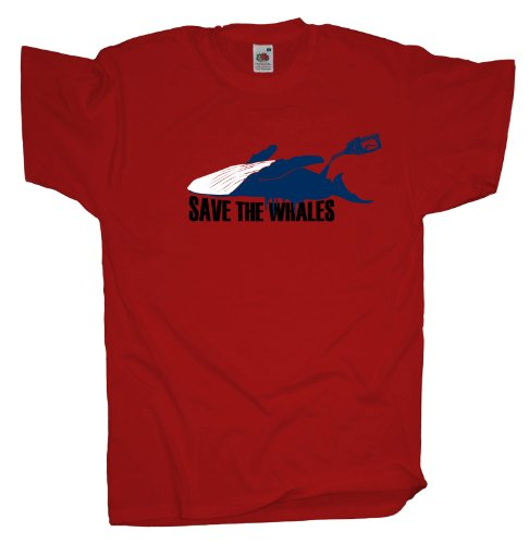 Ma2ca - Save the Whales - Naturschutz T-Shirt Red