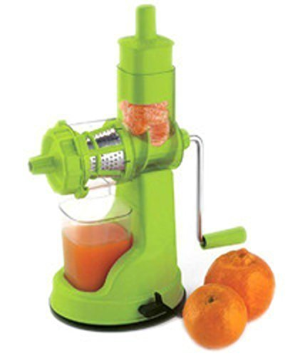 Kuber Industries™ Juicer, Fruit & Vegetable Juicer, Manual Hand Juicer, Fruit Juicer Handel Vacuum Base (green)-jui11