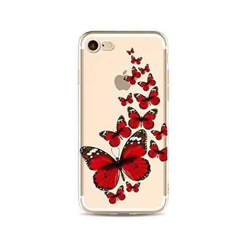 Schutzhülle iPhone 66S Bezug étui-case transparent Liquid Crystal TPU Silikon klar, Schutz Ultra Slim Premium, Schutzhülle Prime für Iphone 66s-le Schmetterling 1