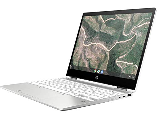 HP Chromebook 12b-ca006TU x360 Thin and Light Touchscreen 12-inch Laptop (4GB/64GB eMMC SSD + 100GB Cloud Storage/Chrome OS/Intel UHD Graphics), Natural Silver