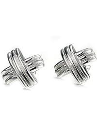Style Objetivo – Pendientes Anillo Pendientes Filigrana separadores plata  25 mm 1786 ee0044a7134