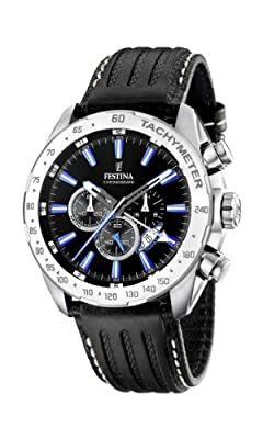 Reloj de caballero FESTINA F16489/3 de cuarzo, correa de piel color negro de Festina