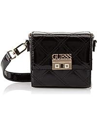 Guess - Status, Shoppers y bolsos de hombro Mujer, Negro (Black Shine/Bks), 18x14.5x8 cm (W x H L)