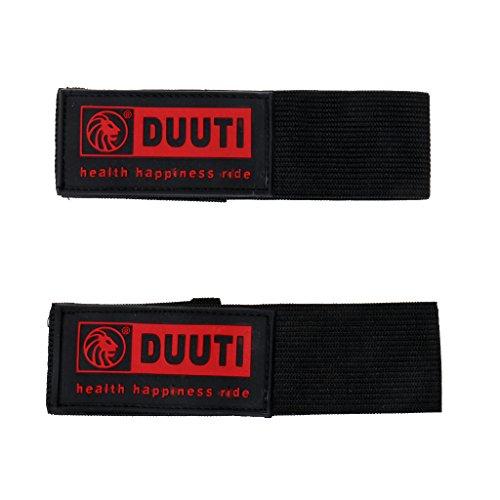 1 Paar Hosen Klettband, Hosenband mit Klettverschluss, Selbstklebend zum Joggen, Radfahren, Reiten - Schwarz