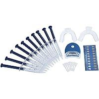 Pawaca Kit de blanqueamiento dental, gel de blanqueamiento para el hogar avanzado ofrece resultados rápidos con luz LED y bandejas de boca