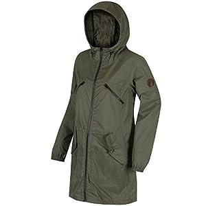 411nZQJNDRL. SS300  - Regatta Women's Adeltruda Waterproof Shell Jacket, Ivy Green, Size 20