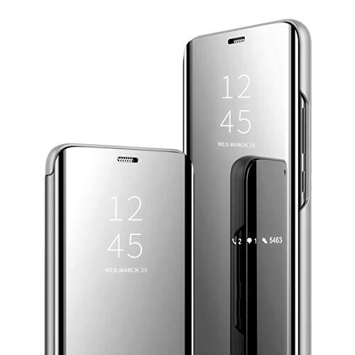 Samsung Galaxy A70 Hülle Clear View Standing Cover für das Galaxy A70 Flip Handyhülle Handy Schutz Schminkspiegel-Schutzhülle Geeignet für Herren Damen handytaschen (3)