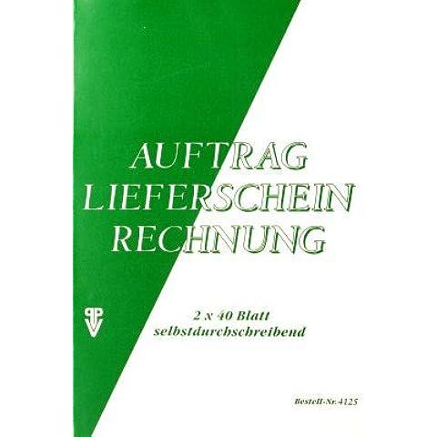 Libro di combinazione, Ordine/Bolla di trasporto/Fattura, 1. e 2. Foglio stampato, auto durchschreibend, A5, 2x40 BL, perforata - Autocopiante Fattura Libro