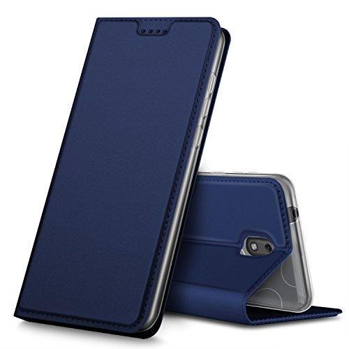 Nokia 1 Hülle, GeeMai Premium Flip Case Tasche Cover Hüllen mit Magnetverschluss [Standfunktion] Schutzhülle Handyhülle für Nokia 1 Smartphone, Blau