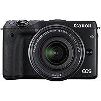 Canon EOS M3 Kit Fotocamera Mirrorless da 24 Megapixel con Obiettivo EF-M 18-55 mm STM, Versione EU, Nero