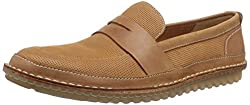 Clarks Mens Tan Leather Loafers and Mocassins - 8 UK