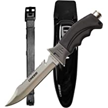 Cressi RC559100 Borg - Cuchillo de buceo, color negro