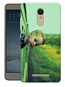 "Humor Gang Boy In Train Printed Designer Mobile Back Cover For ""Xiaomi Redmi Note 3"" By Humor Gang (3D, Matte Finish, Premium Quality, Protective Snap On Slim Hard Phone Case, Multi Color)"