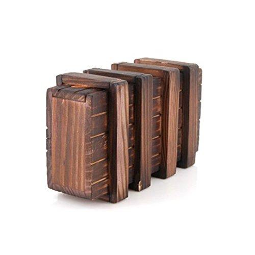 ROSENICE Magic Box Holz Puzzle Geschenkboxen mit Sicheren Schublade (braun)