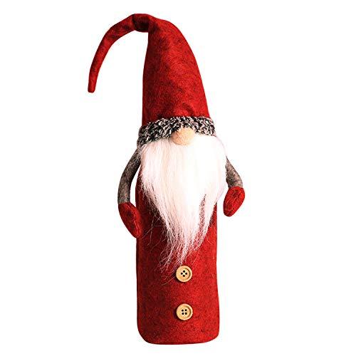 Libertepe Weihnachtsmann Tisch Dekoration Party Wein Tasche Flaschentasche Valentinstag Geschenk
