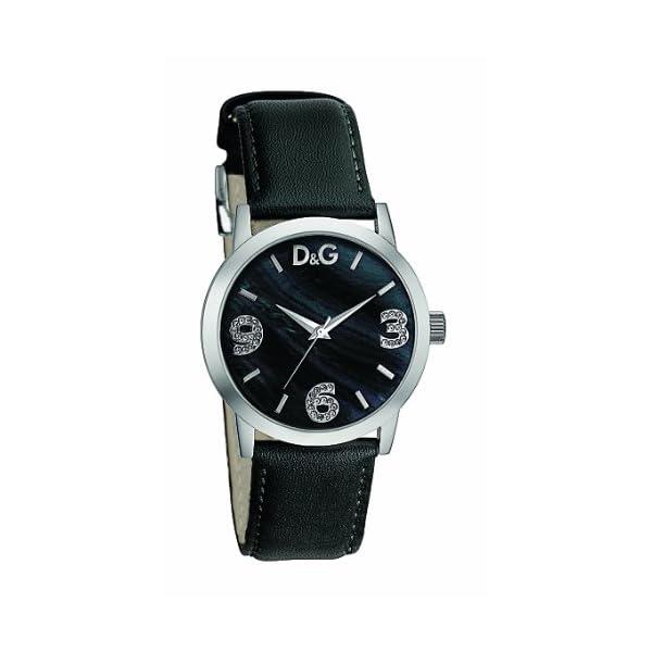 D G Dolce Gabbana DW0689 - Reloj analógico de mujer con correa de acero  inoxidable negra d8de79a03d31