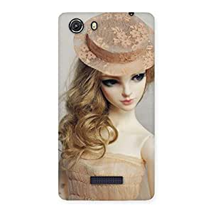 Special Royal Doll Multicolor Back Case Cover for Micromax Unite 3