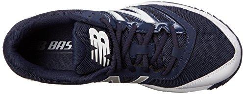 New Balance Men's T4040V3 Turf Baseball Shoe, Navy/White, 15 D US Navy/White