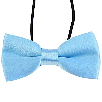 CellDeal Men Boys Kids Children Pre Tied Satin Bow Ties Elastic Band