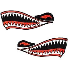 MagiDeal Pegatina de Vinilo Forma de Boca de Tiburón Decoración para Motocicleta de Barco de Coche de Pared de Hogar