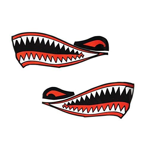 Zähne Mund Abziehbild Aufkleber Dekor Sticker für Kajak Kanu Boot Schlauchboot Auto (Kanu-dekor)