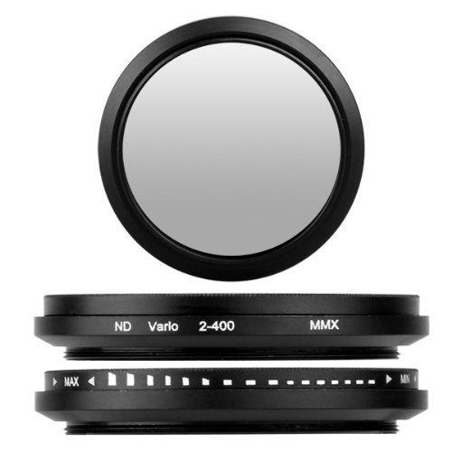 BlueBeach 43mm Qualitäts Einstellbar ND Neutral Graufilter Objektivfilter ND2-ND400 for Canon Nikon...