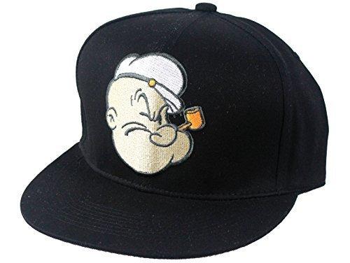 Offizielle Looney Tunes snapback caps, Popeye flach Herren Basecap Mütze peak Damen (Hat Popeye)